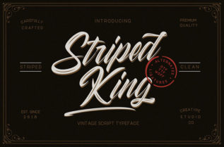 Striped King Vintage Font