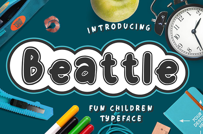 Beattle Display Font