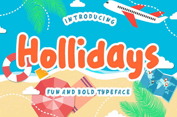 Hollidays Display Font
