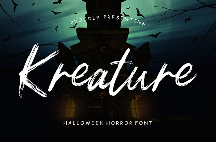 Kreature Brush Font