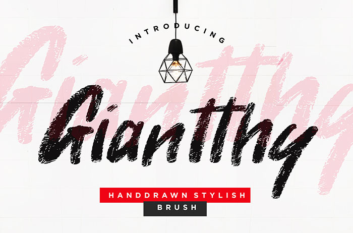 Giantthy Brush Font