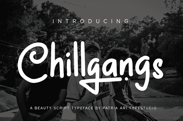 Chillgangs Display Font