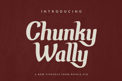 Chunky Wally Vintage Font
