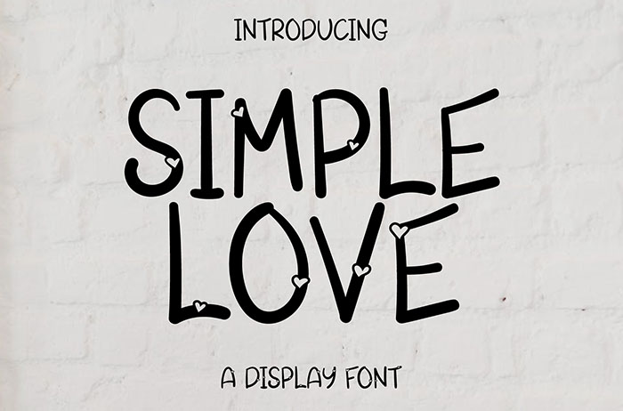 Simple Love Display Font