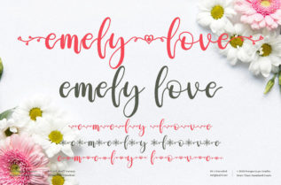 Emely Love Font