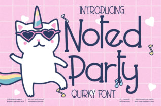 Noted Party Font