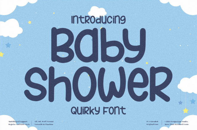 Baby Shower Font
